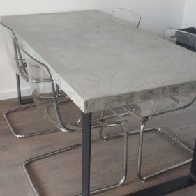 Moderne Betonnen tafel helemaal op maat en naar wens kan bij ons! - Lijn M -