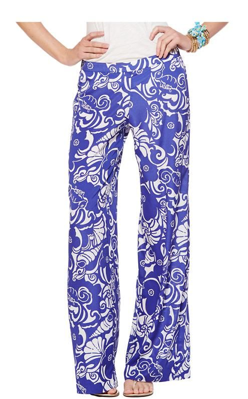 Lilly Pulitzer Middleton Palazzo Wide Leg Pant in Tide Pools