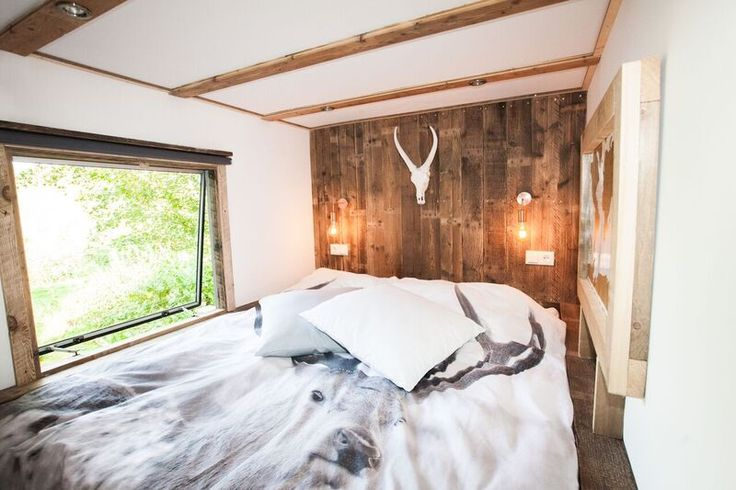 Mountain lodge slaapkamer