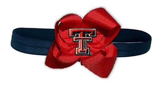NCAA Texas Tech Red Raiders Stretch Baby Headband, One Size, Red/Black