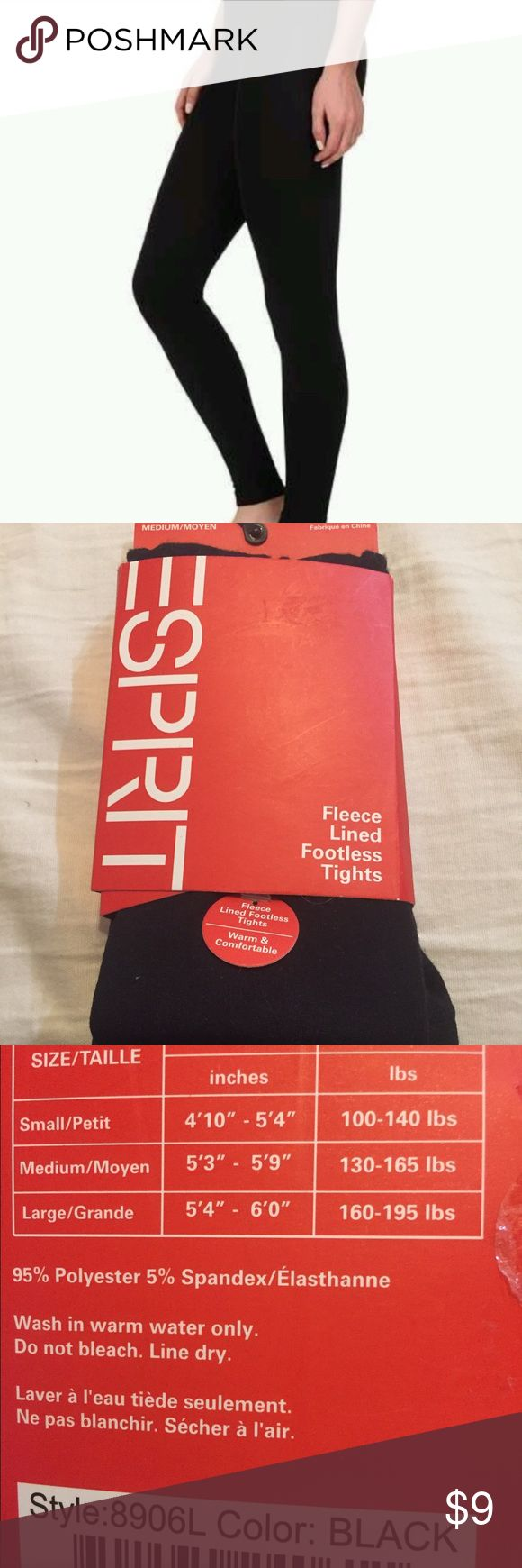 Esprit fleece lined footless tights These are super soft and are perfect for layering. I love them with sweaters as well. esprit Pants Leggings
