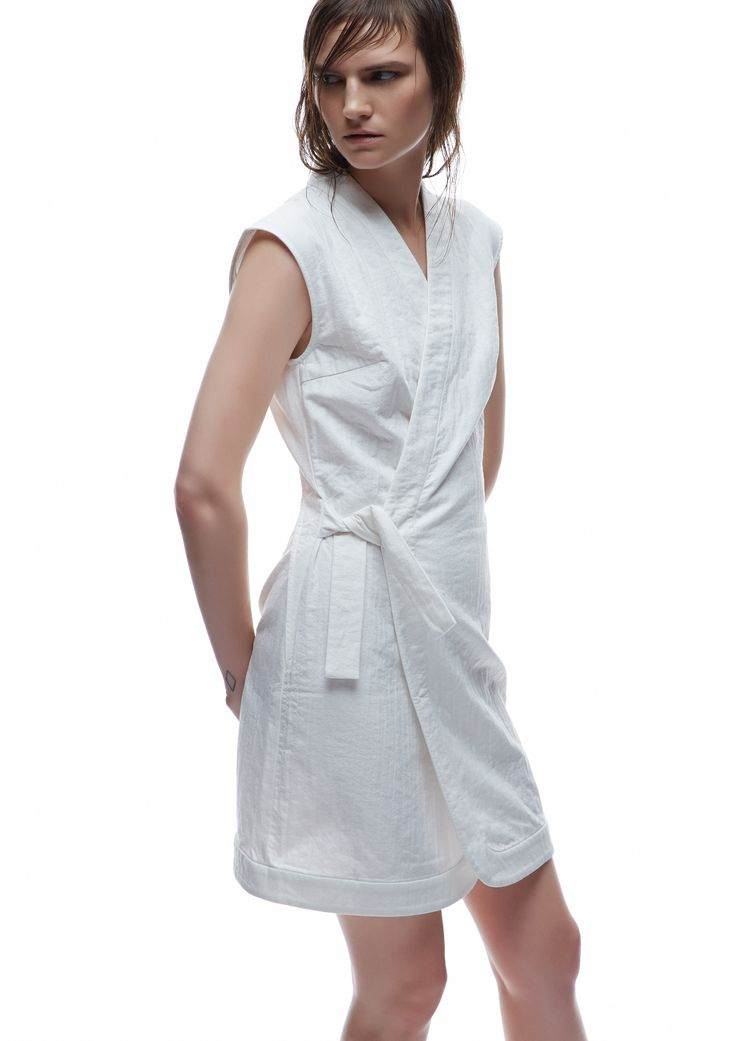 THIRD FORM SPRING 15 | SAMURAI ROBE DRESS #thirdform #fashion #streetstyle #style #minimalism #trend #model #black&white
