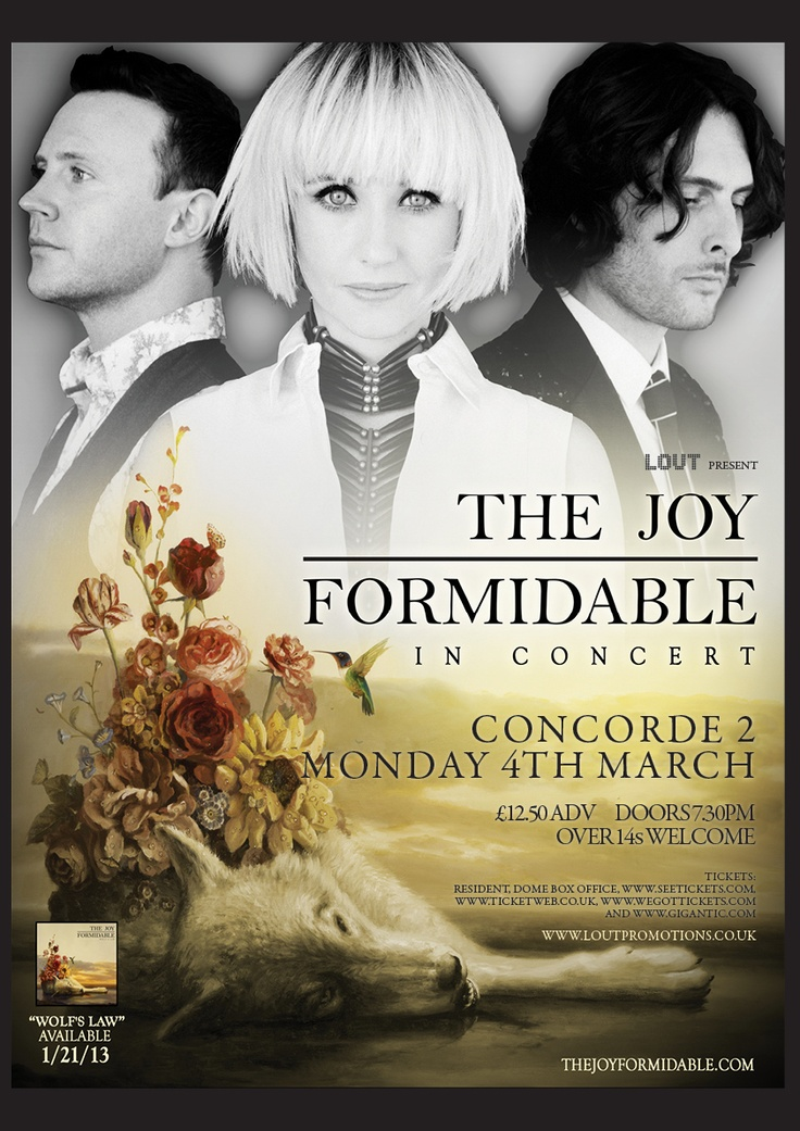 Catch The Joy Formidable at Concorde2 on Monday 4th March 2013. Producing anthems such as 'Cradle' and 'A Heavy Abacus' this is a band not to be missed. Get your tickets for £12.50 + bf in adv from our website now: https://www.concorde2.co.uk/bookTickets.php?pageName=The+Joy+Formidable=2013-03-04