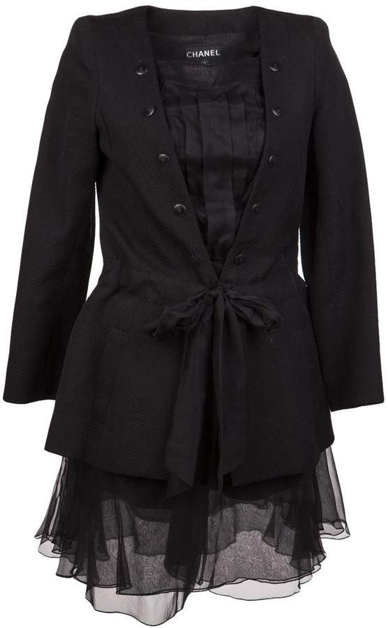Chanel Vintage Pique suit http://www.shopstyle.com/action/loadRetailerProductPage?id=427924343&pid=uid576-6230024-78