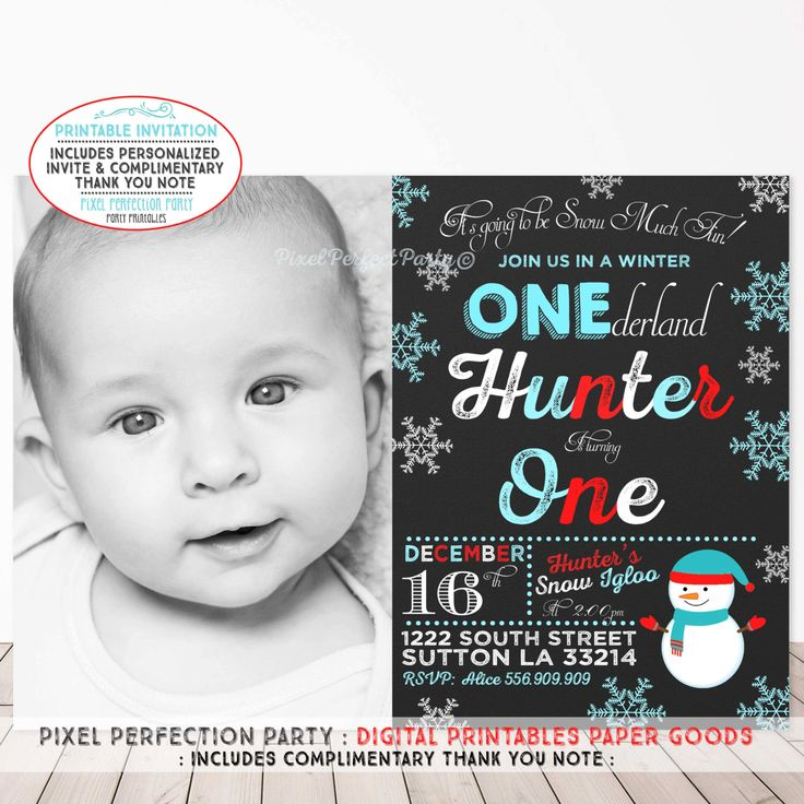 Winter OneDERLAND Invitation Our Little Snowflake Invitation Snowflake Invitation Snowman Invitation Christmas Red Blue White Invitation by PixelPerfectionParty on Etsy https://www.etsy.com/listing/244932775/winter-onederland-invitation-our-little
