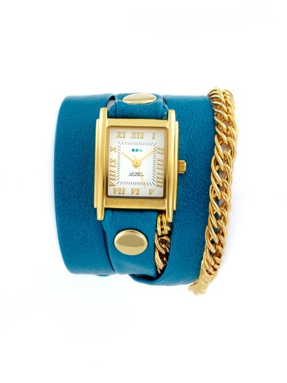 Women's Blue Glam Multi Wrap Watch by La Mer Collections on Gilt.com