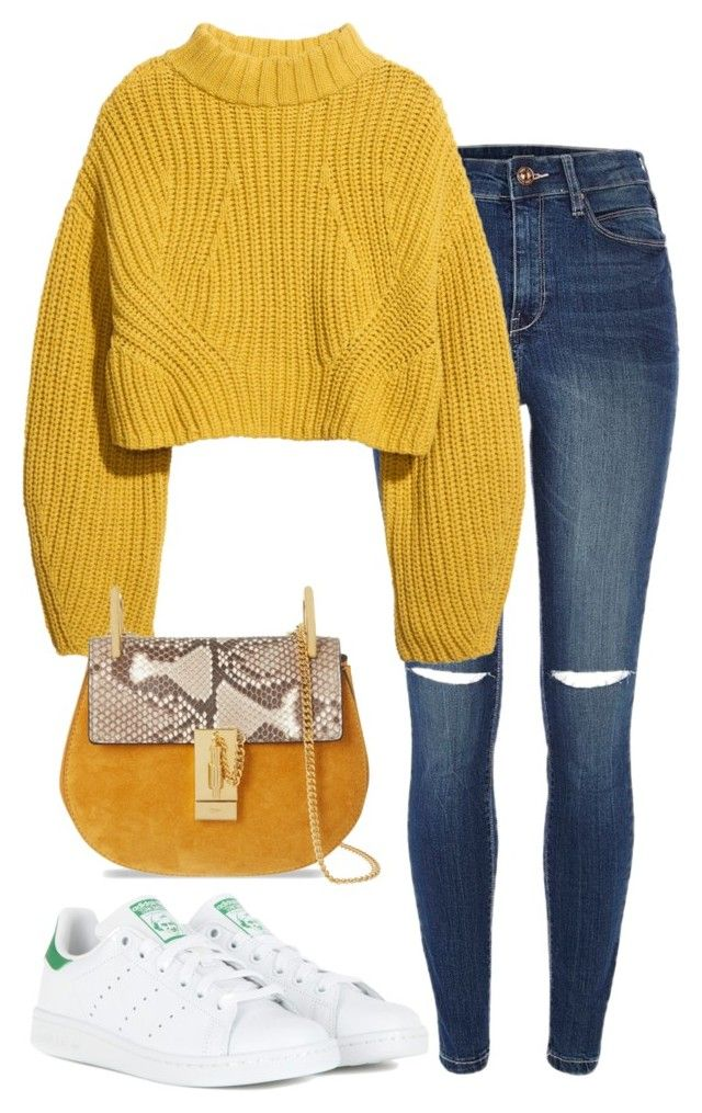 """Untitled #510"" by annap-style ❤ liked on Polyvore featuring River Island, H&M, adidas and Chloé"
