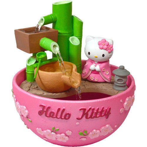 New Sanrio Hello Kitty Kimono Bamboo Fortune Aquarium Bowl with Pump | eBay