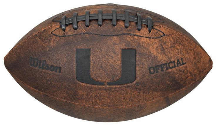 Miami Hurricanes Football - Vintage Throwback - 9 Inches
