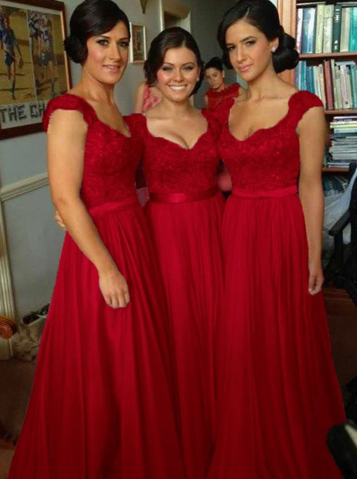 17 best ideas about Red Bridesmaid Dresses on Pinterest   Red ...