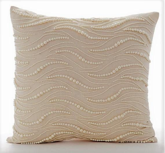 16 X16 Decorative Beige Throw Cushion Cotton Linen Throw Pillow