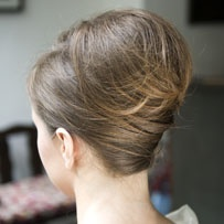 how to make french pleat hair