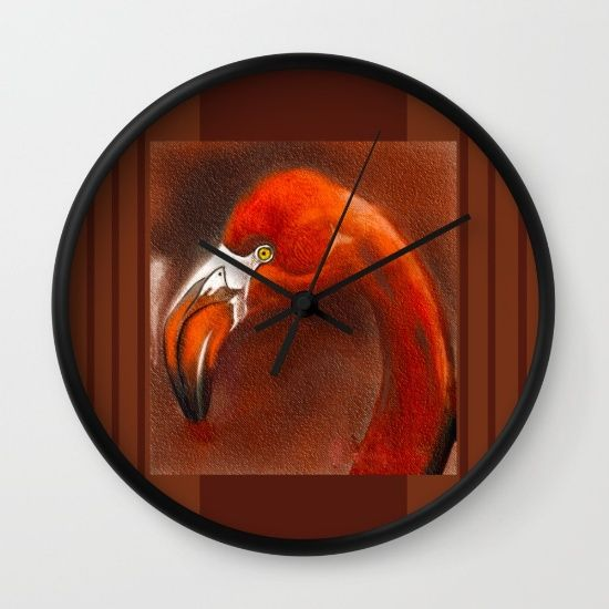 Buy flamingo Wall Clock by Jacqueline Schreiber. Worldwide shipping available at Society6.com. Just one of millions of high quality products available.