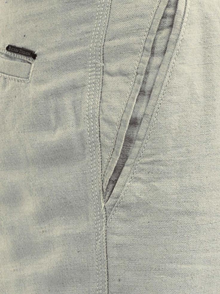 Indian Terrain Men Beige Linen Trousers | By myntra.com