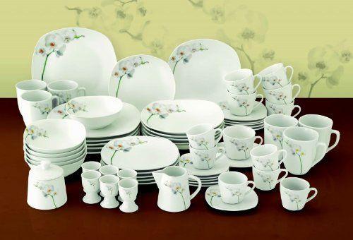 Kombiservice Orchidee 124-teilig eckig Porzellan für 12 Personen weiß mit Blumendekor Van Well http://www.amazon.de/dp/B00JUU9XAO/ref=cm_sw_r_pi_dp_3RQuub1ANTZ6E