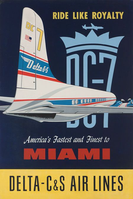 Vintage posters of American airline companies - aviatstudios.com