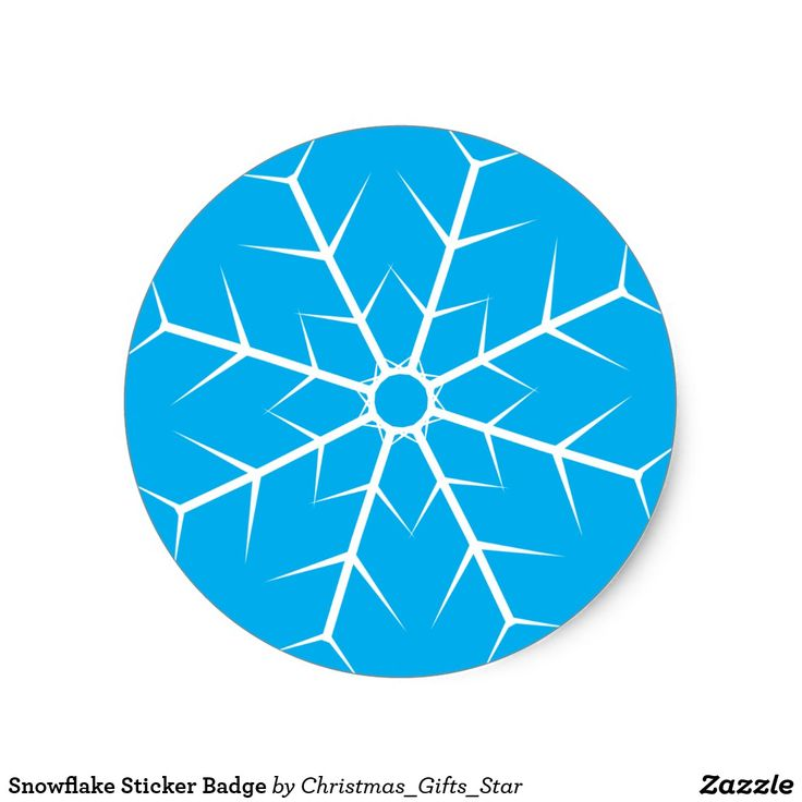 Snowflake Sticker Badge