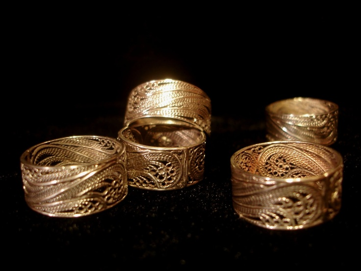 Portuguese filigrana rings