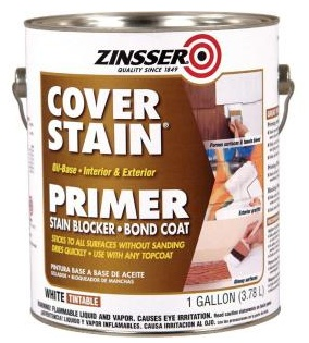 Zinsser Cover Stain 1 Gal White Primer Sealer 17 98 To Repaint Coffee Table And Side Tables Cover Stains Painting Laminate Primer Sealer