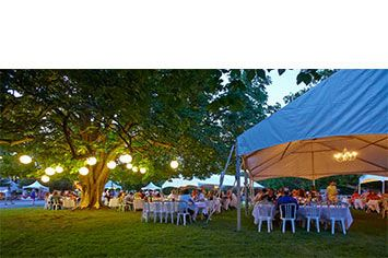 The Cool Chardonnay World Tour Dinner, overseen by guest chef Vikram Vij, and prepared by the students of the Canadian Food & Wine Institute was enjoyed on the grounds of the Vineland Research & Innovation Centre.