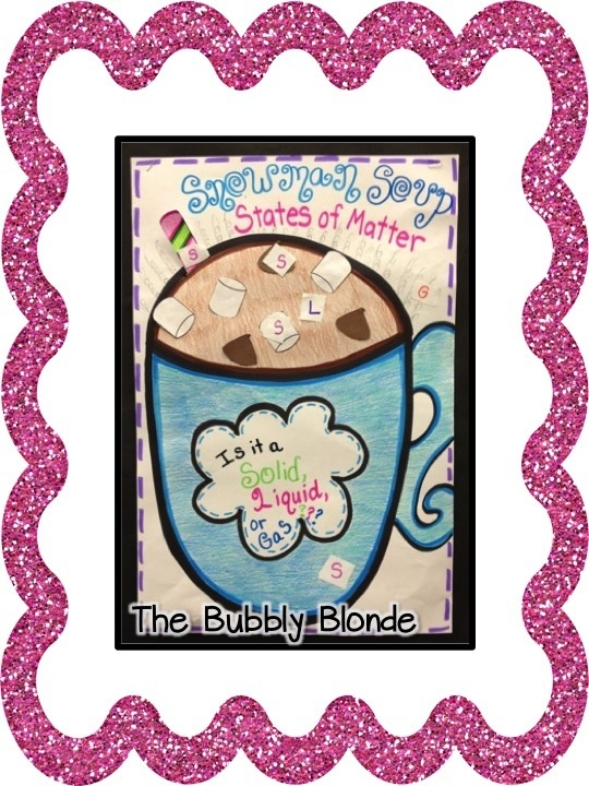 The Bubbly Blonde:  Snowman Soup with connection to states of matter