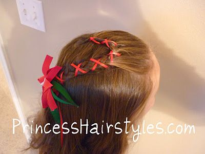 Candy Cane Braid Christmas Hairstyle: Cane Hairstyles, Princess Hairstyles, Holiday Hairstyles, Girl Hairstyles, Hair Style, Hairstyles For Girls