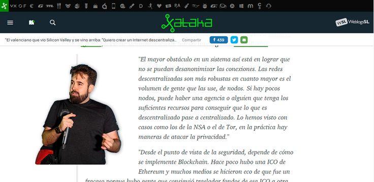 Privacidad, seguridad y negocio. Los tres elementos que cualquier proyecto basado en blockchain deberá mimar.  Un resumen de lo comentado para Xataka.  #Seguridad #Descentralización #Blockchain