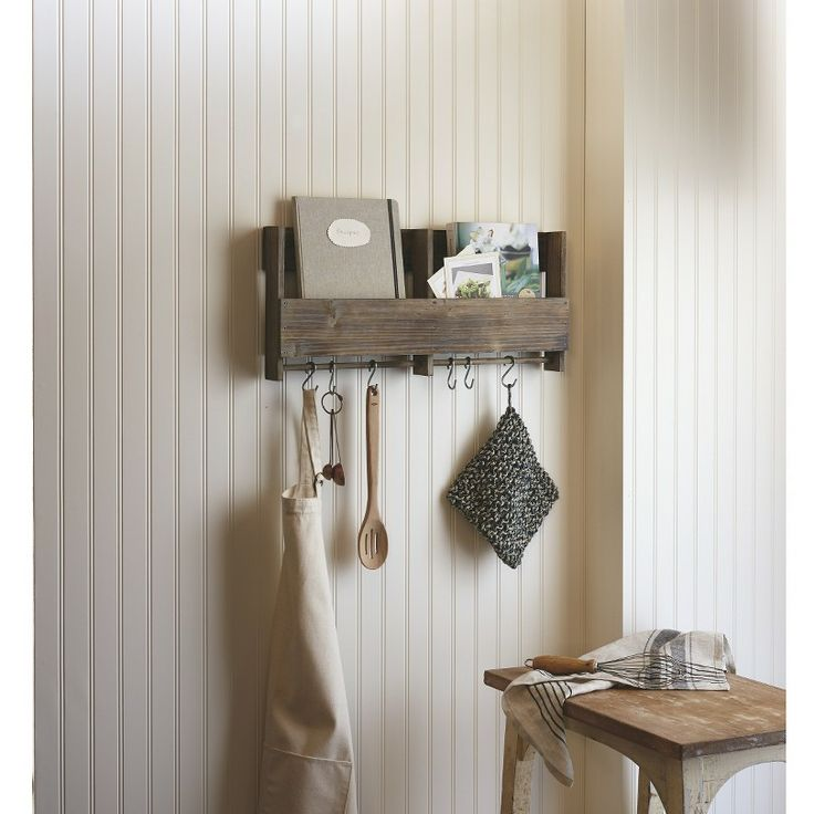 Target - Wooden Shelf with S Hooks