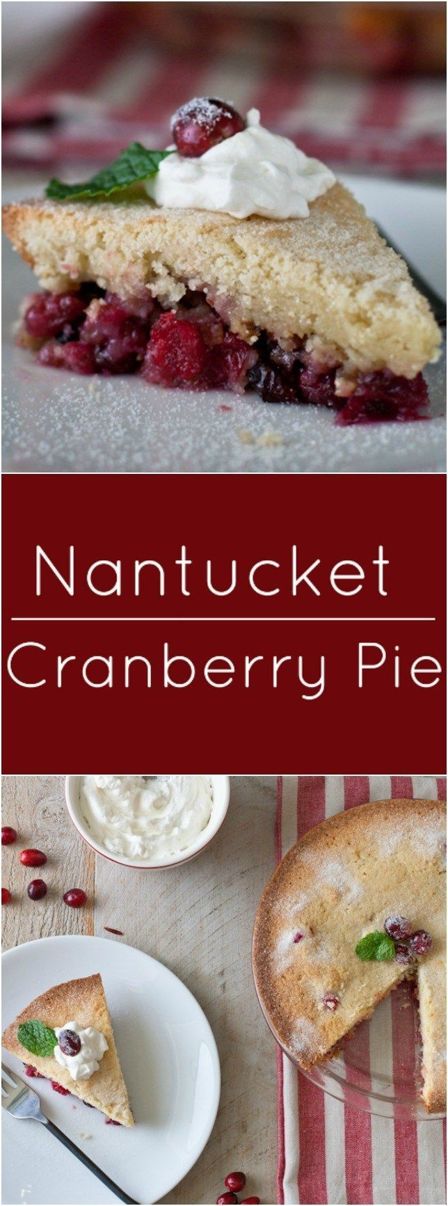 Nantucket Cranberry Pie is an fast and easy addition to any dessert buffet.