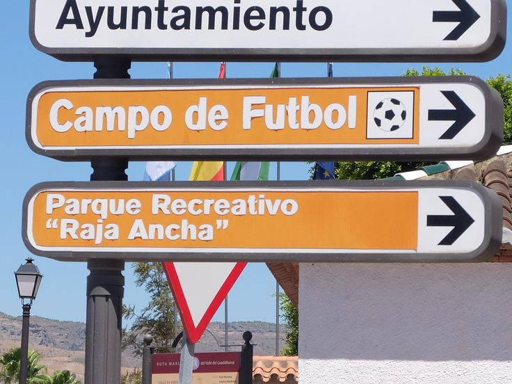 Pizarra. Un area recreativa con un nombre curioso.