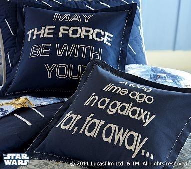 star wars: Decor Shams, Boys Rooms, Stars War Rooms, Throw Pillows, Decor Pillows, War Pillows, Pillows Shams, Pottery Barns, Starwars