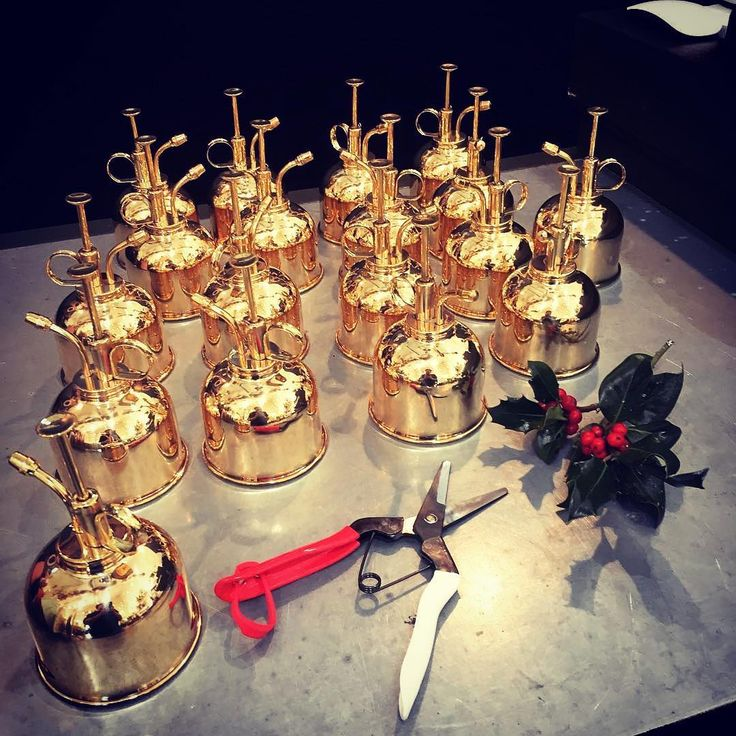"""Isn't this fabulous? ✨ #snips #gardeningtools #gardening #christmasseason #gold #pruningshears #plantcare #holly #flowergram #floral RepostBy @california.sister: """"Ohhhh shiny ✨some of our favorite tools. Hard working and pleasing to the eye 👀 #hawsmister #okatsune #bhere  #greatgift #buylocal #shopsmall #thebarlow"""""""