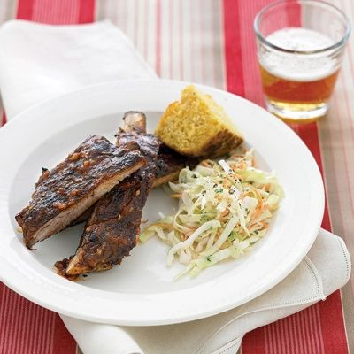 ~~Grilled Spare Ribs with Barbecue Sauce recipe from Martha Stewart~~