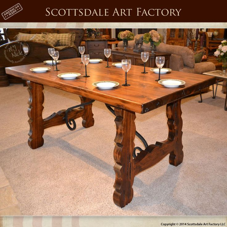 Dining Room Table Custom Made From Solid Wood Handcrafted Using Mortise And Tenon Joinery