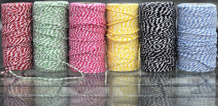 Coloured baker's twine for any occasion! We have these colours and many more in store at The Paper Empire.  www.thepaperempire.com.au