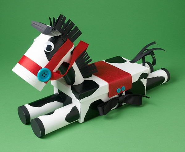 Horse Crafts with Toilet Paper Rolls