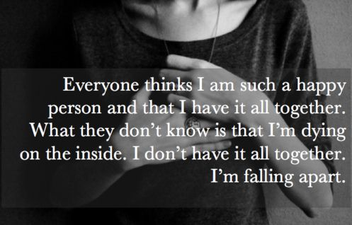 I'm not perpetually falling apart, but at times I fall all at once. I'm not dying, just struggling.