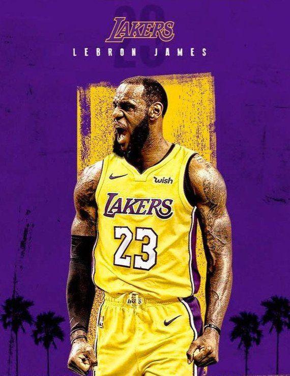Lebron James Lakers 23 poster