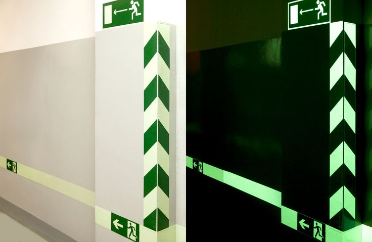 Светящаяся разметка в здании **** Luminous marking in the building #luminous #marking #building #светящаяся #разметка