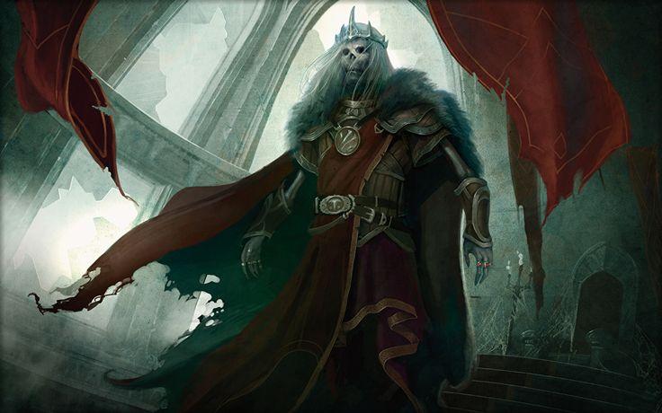 Bilder von Magic: The Gathering Untoter Ungeheuer Krieger Nekusar, the Mindrazer Spiele Monsters