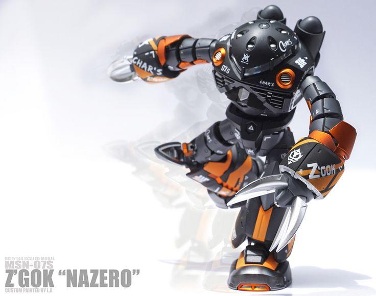"Painted Build: RG 1/144 Z'Gok ""NAZERO"" - Gundam Kits Collection News and Reviews"