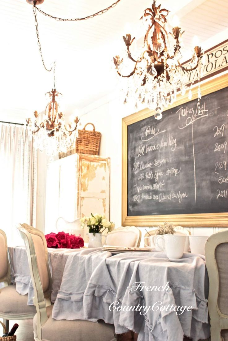 French country dining room - French Country Cottage Faded Ruffles Cottage Dining Roomscountry