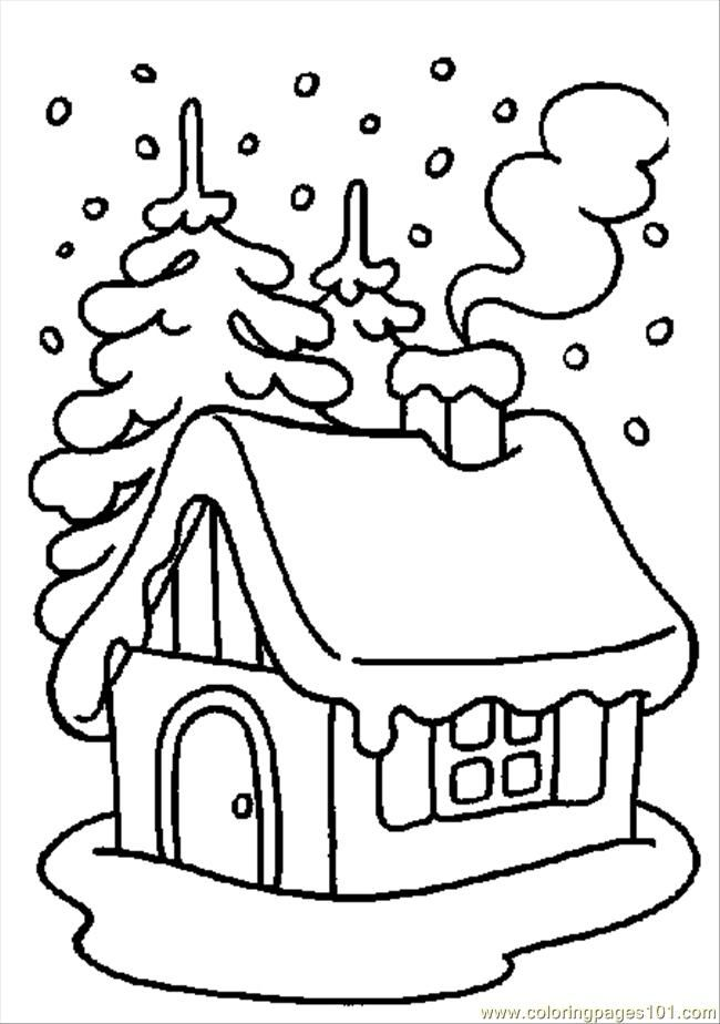 Winter Coloring Pages | ... printable coloring page Winter Coloring 01 (Sports > Winter sports