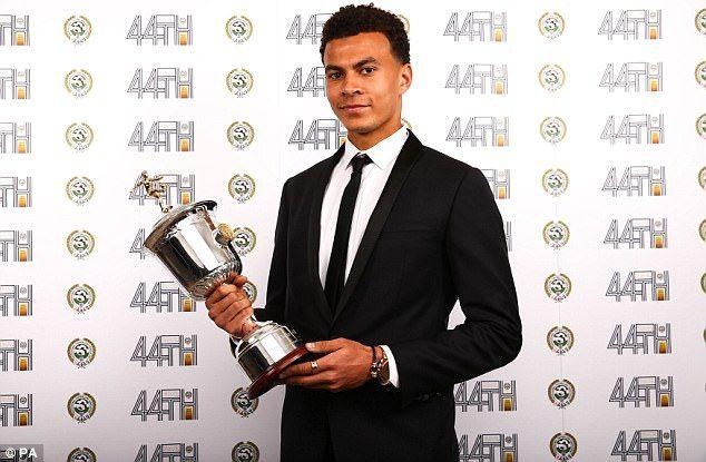 Tottenham midfielder Dele Alli won PFA Young Player prize for the second successive season