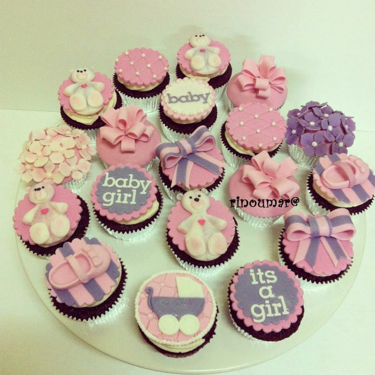Baby Shower cupcakes for girls