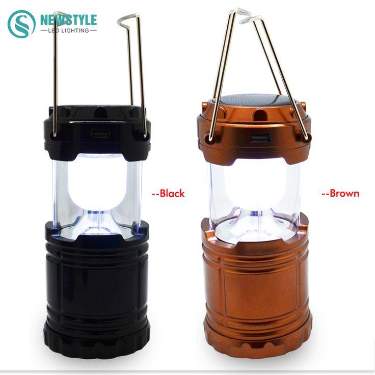 Nieuwe 6 LEDs solar Camping Licht Oplaadbare Hand Lamp camping Lantaarn AC110-250V Tent Lichten voor Buitenverlichting Wandelen