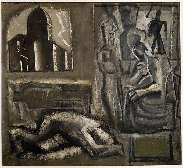 Composizione con cattedrale (1943) Mario Sironi