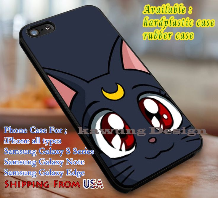 Luna, Sailor moon, case/cover for iPhone 4/4s/5/5c/6/6 /6s/6s  Samsung Galaxy S4/S5/S6/Edge/Edge  NOTE 3/4/5 #cartoon #animated #sailormoon #movie  dl1