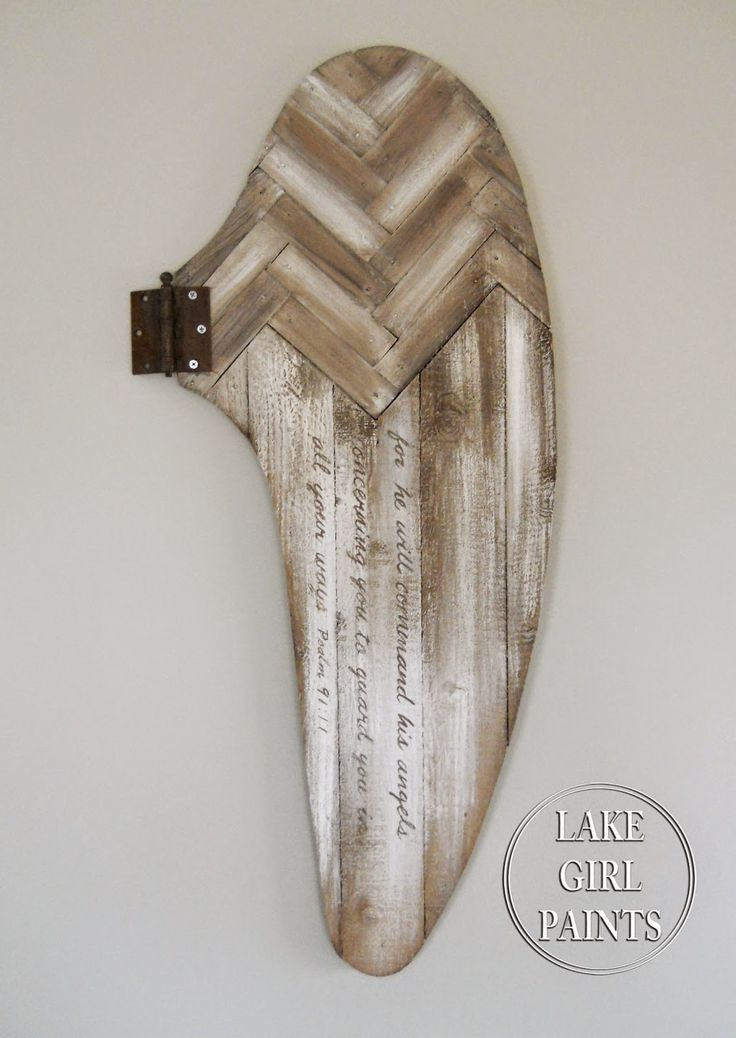 Rustic Wooden Angel Wing