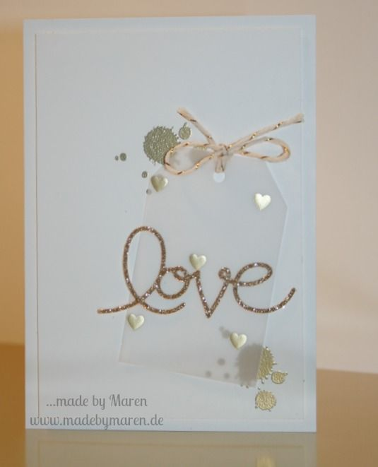 Stampin Up, Valentinstag, Hochzeit, Wedding, Gorgeous Grunge, love